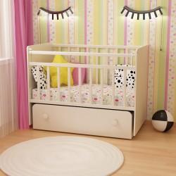 Новинка! Детская кроватка с маятником ФА-М Дарья 1!