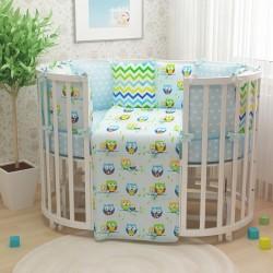 Новые модели комплектов постельного белья для круглых и овальных кроваток!
